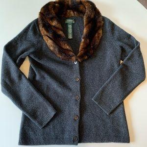 Lauren Ralph Lauren Sweater Cardigan Wool Cashmere